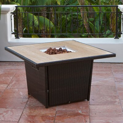 RST Outdoor Stone Top Table with Firepit
