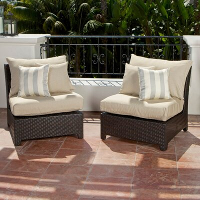 RST Outdoor Slate Armless Sectional Piece with Cushions (Set of 2)