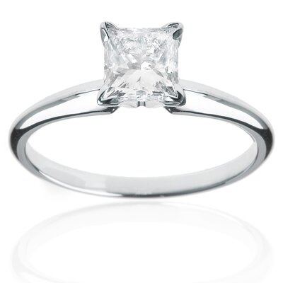 14k White Gold 1/4ct TDW Diamond Solitaire Engagement Ring