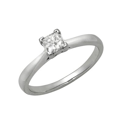 14k White Gold 1/3ct TDW Princess Diamond Solitaire Ring
