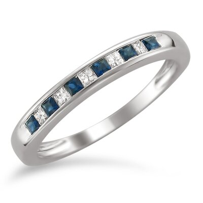 14k White Gold Princess-Cut Ring