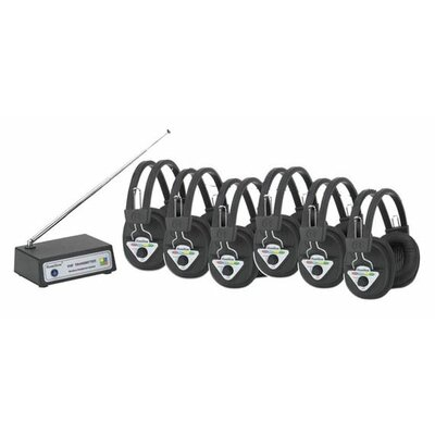 Hamilton Electronics Multi Wireless Listening Center with 6 Headphones