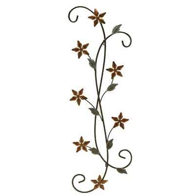 Fetco Home Decor Katelyn Floral Scroll Wall Art