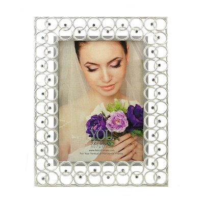 Fetco Home Decor Cecily Circles and Stones Picture Frame