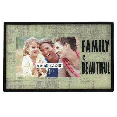 Fetco Home Decor Kimba Expressions  Family is Beautiful Photo Frame
