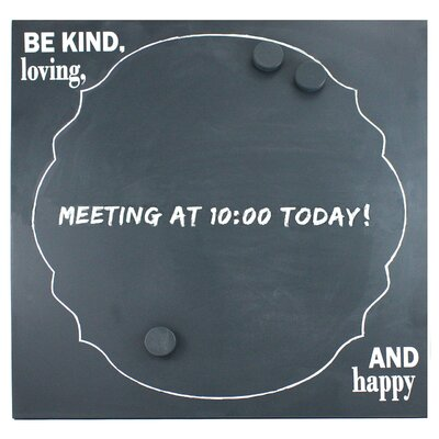 "Fetco Home Decor Dasher Be Kind Loving and Happy 1' 8"" x 1' 8"" Chalkboard"