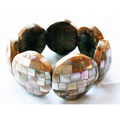 Eco Opulence Checkerboard Mother of Pearl Bracelet