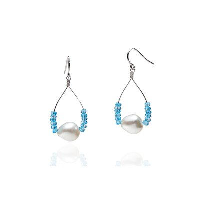 Eco Opulence Pacific Blue Pearl Earring