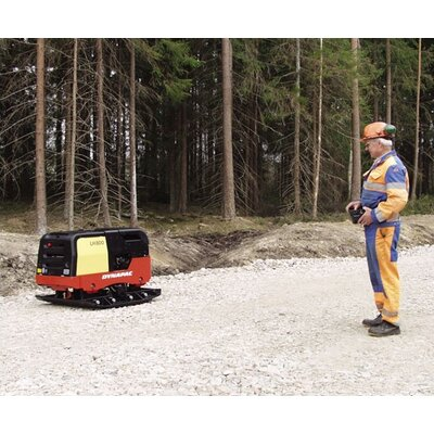 "Dynapac Radio Remote Controlled 38"" x 41"" Forward & Reversible Soil Plate Compactor w/ Hatz 1D90V 15.6 HP Electric Start Diesel Engine"