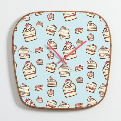 DENY Designs Jennifer Denty Cake Slices Clock