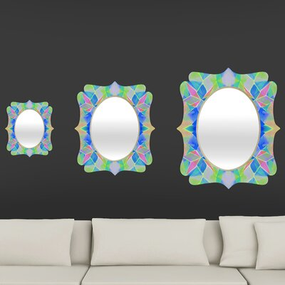 DENY Designs Amy Sia Chroma Blue Quatrefoil Mirror