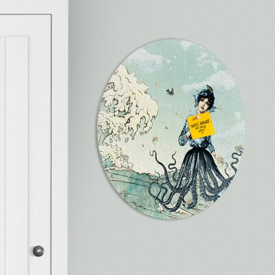 DENY Designs Belle13 Sea Fairy Oval Magnet Board
