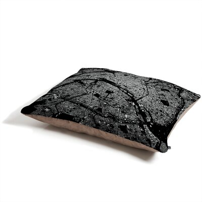 DENY Designs CityFabric Inc Paris Black Pet Bed