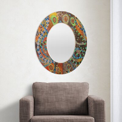 DENY Designs Ruby Door Elixer Oval Mirror