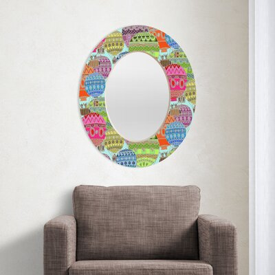 DENY Designs Sharon Turner Candy Sky Oval Mirror
