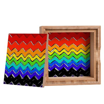 DENY Designs Sharon Turner Rainbow Chevron Storage Box