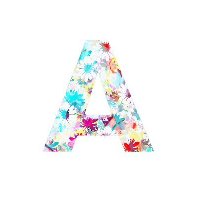 DENY Designs Aimee St Hill Floral 4 Decorative Letters