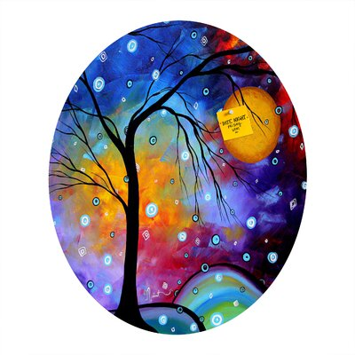 DENY Designs Madart Inc. Winter Sparkle Oval Bulletin Board