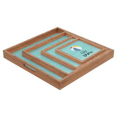 DENY Designs Nick Nelson Lifes A Beach Square Tray