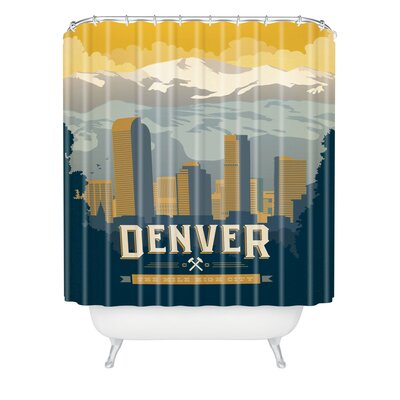 DENY Designs Anderson Design Group Woven Polyester Denver One Shower Curtain