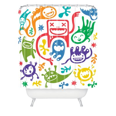 DENY Designs Andi Bird Woven Polyester Misfits Shower Curtain