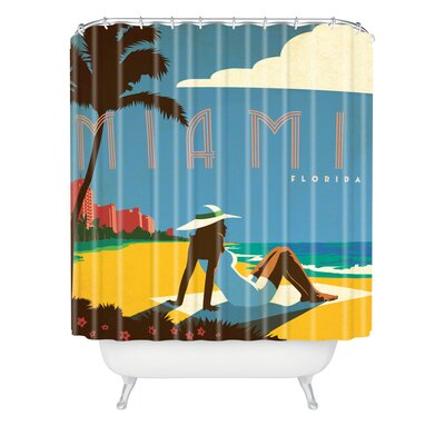 DENY Designs Anderson Design Group Woven Polyester Miami Shower Curtain
