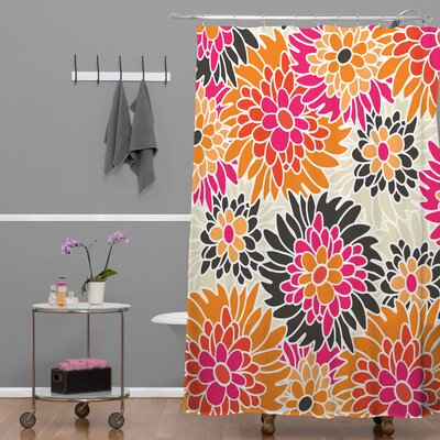 DENY Designs Andrea Victoria Summer Tango Floral Shower Curtain