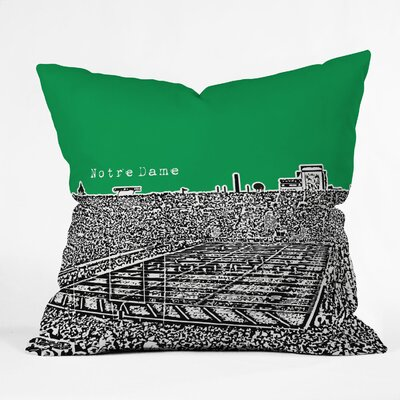 DENY Designs Bird Ave Notre Dame Woven Polyester Throw Pillow