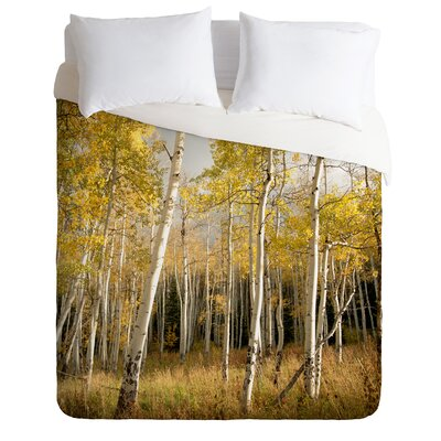 DENY Designs Bird Wanna Whistle Golden Aspen Duvet Cover Collection