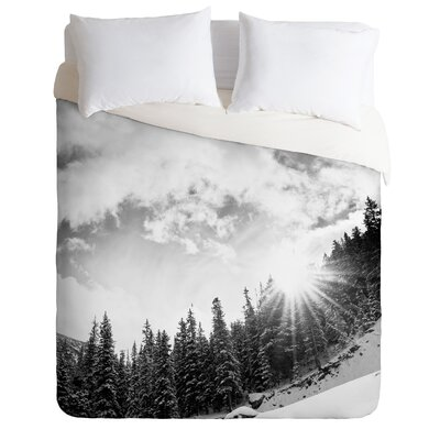 DENY Designs Bird Wanna Whistle White Mountain Duvet Cover