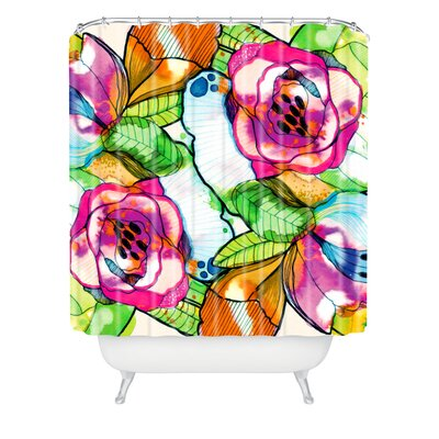 DENY Designs CayenaBlanca Polyester Fantasy Garden Shower Curtain