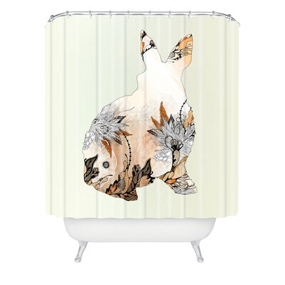 DENY Designs Iveta Abolina Polyester Little Rabbit Shower Curtain