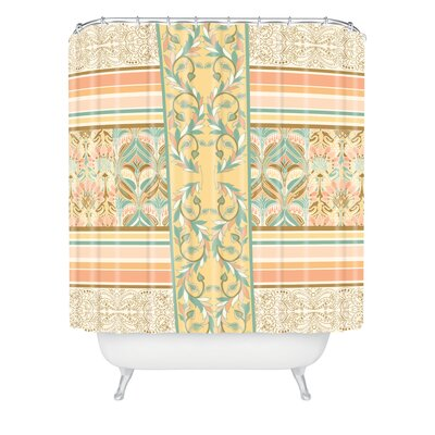 DENY Designs Jacqueline Maldonado Woven Polyester Vintage Stripe Shower Curtain