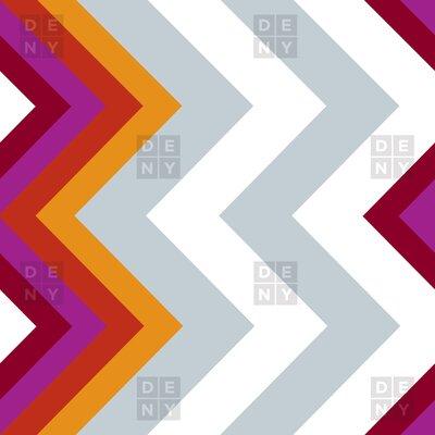 DENY Designs Karen Harris Woven Polyester Modernity Solstice Warm Chevron Shower Curtain