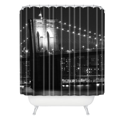 DENY Designs Leonidas Oxby Woven polyester Brooklyn Bridge 125 Shower Curtain