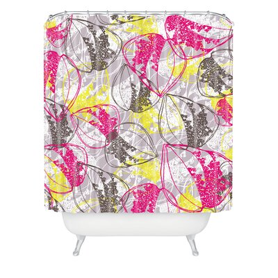 Rachael Taylor Polyester Organic Retro Leaves Shower Curtain