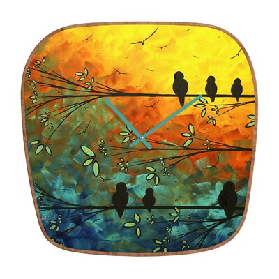 DENY Designs Madart Inc. Birds Of A Feather Wall Clock