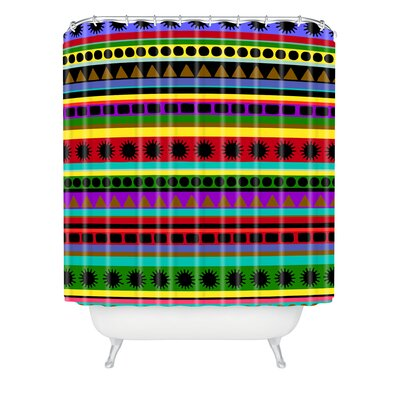 DENY Designs Romi Vega Polyester Heavy Pattern Shower Curtain