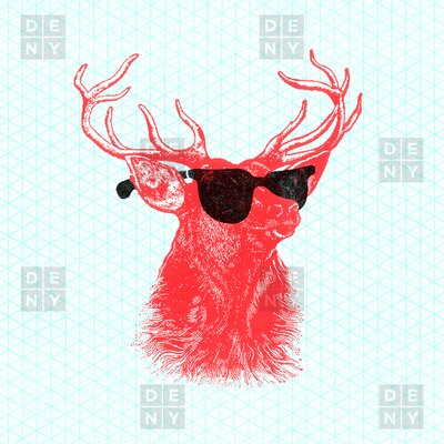 DENY Designs Nick Nelson Young Buck Shower Curtain