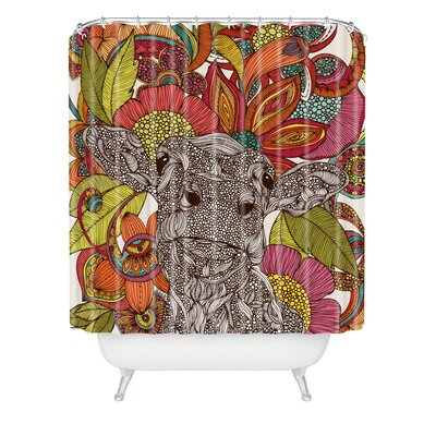 DENY Designs Valentina Ramos Polyester Arabella and The Flowers Shower Curtain