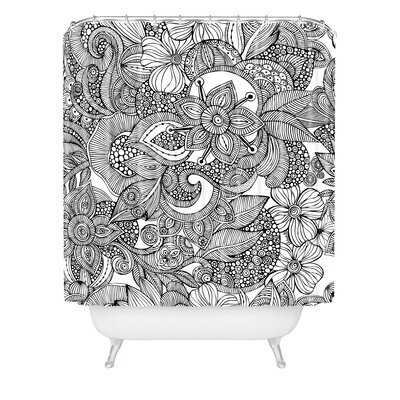 DENY Designs Valentina Ramos Woven Polyester Doodles Shower Curtain
