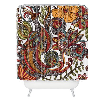 DENY Designs Valentina Ramos Woven Polyester Paradise Bird Shower Curtain
