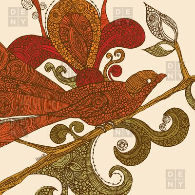 DENY Designs Valentina Ramos Woven Polyester Bird Shower Curtain