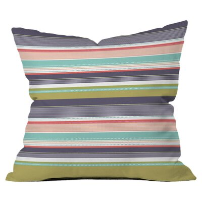 DENY Designs Wendy Kendall Multi Stripe Polyester Throw Pillow