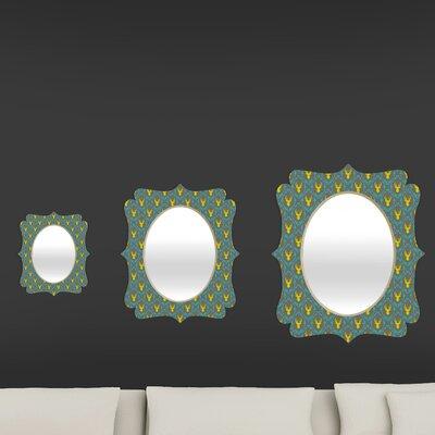 DENY Designs Bianca Green Oh Deer 3 Quatrefoil Mirror