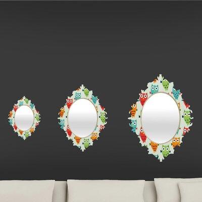 DENY Designs Andi Bird Owl Fun Baroque Mirror