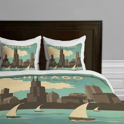DENY Designs Anderson Design Group Chicago Microfiber Duvet Cover