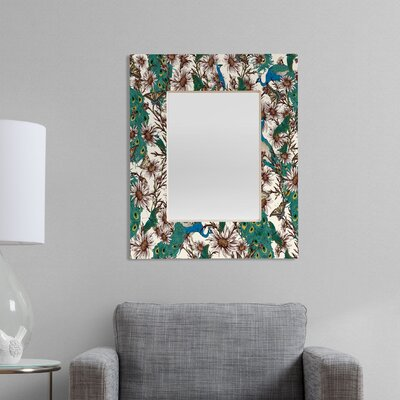 DENY Designs Belle13 Butterflies in My Peacock Garden Rectangular Mirror