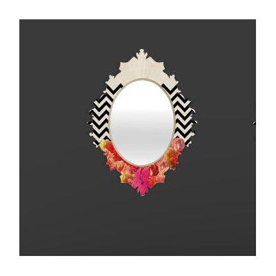 DENY Designs Bianca Green Chevron Flora 2 Baroque Mirror