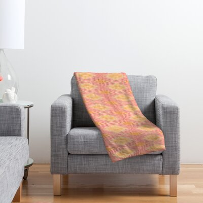 DENY Designs Cori Dantini Orange Ikat 4 Polyester Fleece Throw Blanket